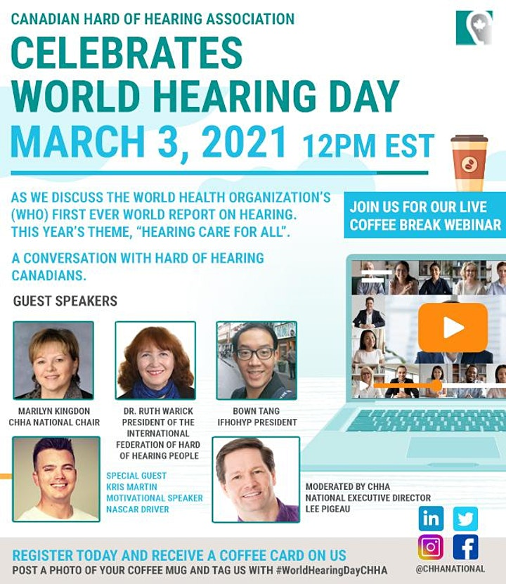 The Canadian Hard of Hearing Association Celebrates World Hearing  Day! image