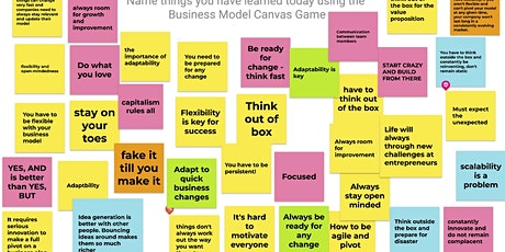 Business Model Canvas - The Game - where anything can happen tickets