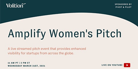Amplify: Women's Pitch | March 31st tickets