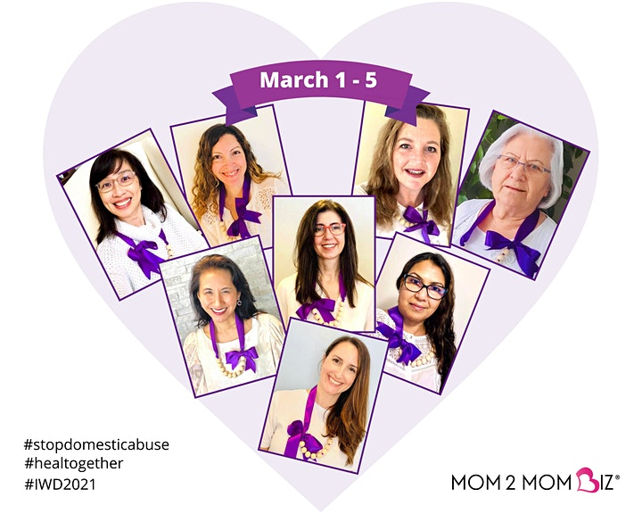 MOM2MOM BIZ® International Women's Day Virtual Event Series & Fundraiser image