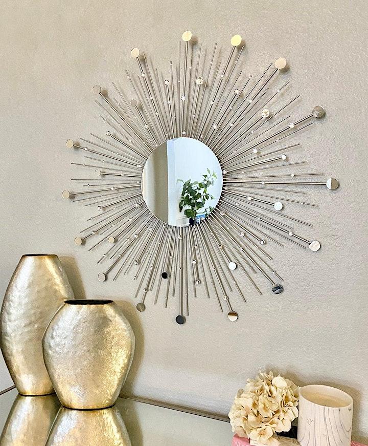 Sip+Make+Take:   Sunburst Mirror image