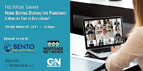 Home Buying During the Pandemic Free Virtual Seminar tickets