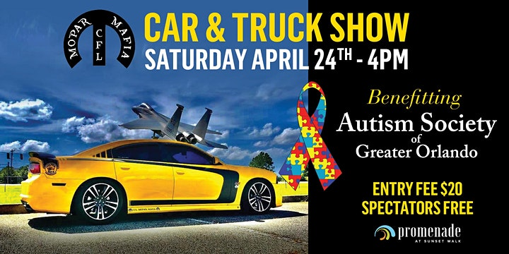 """Mopar Mafia Car & Truck Show"" Benefiting Autism Society of Greater Orlando image"