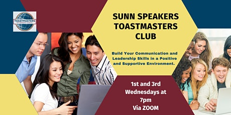 SUNN Speakers Toastmasters Club tickets