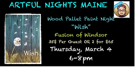 """Wood Pallet """"Wish"""" at Fusion of Windsor tickets"""