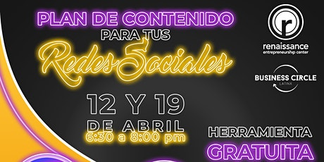 Plan de Contenidos para tus Redes Sociales (2 clases) boletos