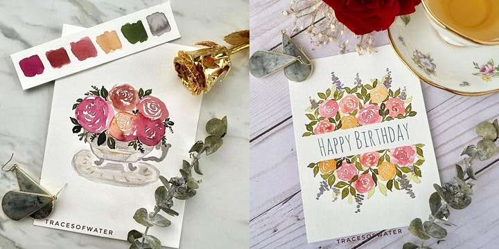 [Letters Of Love]Paint A Card- Delicate Botanical Plant In Watercolor image