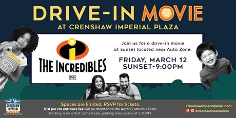 Drive-in Movie Featuring The Incredibles tickets