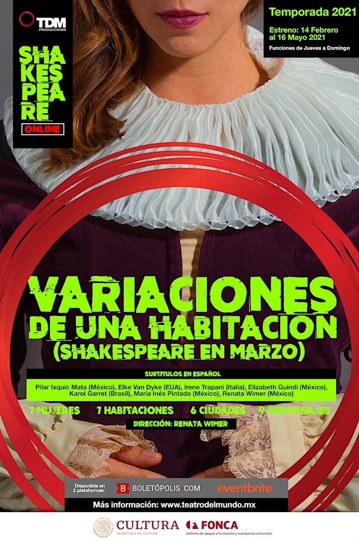 Imagen de Variaciones de una habitación (Shakespeare en Marzo) Sub-títulos en ESPAÑOL