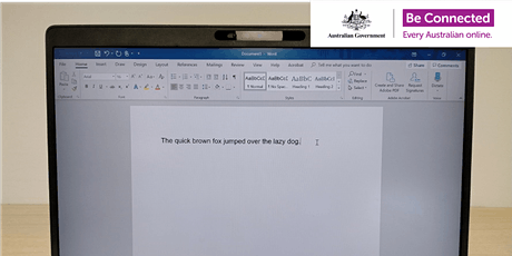 Be Connected - Creating documents with Microsoft Word @ Dianella Library tickets