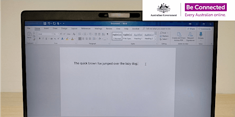 Be Connected - Creating documents with Microsoft Word @ Mirrabooka Library tickets