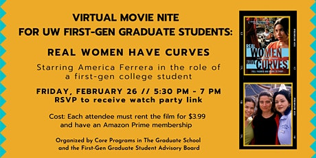 Virtual Movie Nite: UW First-Gen Graduate Students tickets