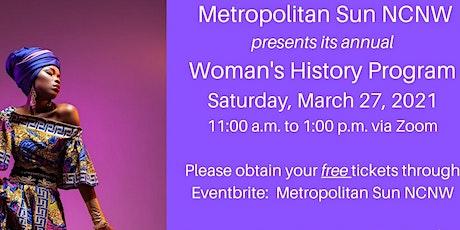 Metropolitan Sun NCNW Women's History Program tickets