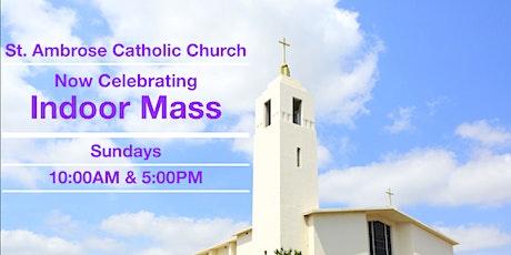 Sunday: 10:00AM Indoor Mass tickets