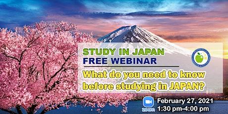 STUDY IN JAPAN FREE WEBINAR tickets