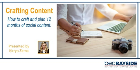 Crafting Content – How to craft and plan 12 months of social content Tickets