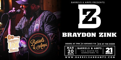 Live at The Amp: Braydon Zink (Full Band) tickets