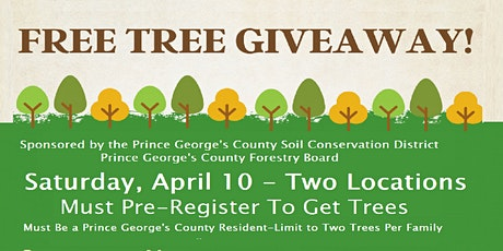 Free Tree Giveway from 1 pm -4 p.m. on April 10 tickets