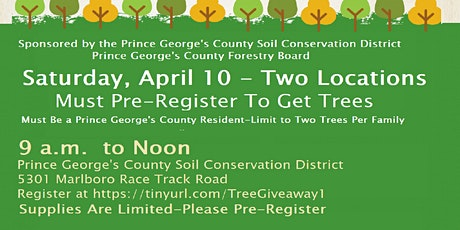 Prince George's County Free Tree Giveaway tickets