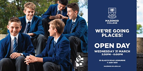 Mazenod College Open Day tickets