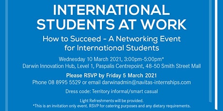 Navitas Professional Darwin: International Students at Work tickets