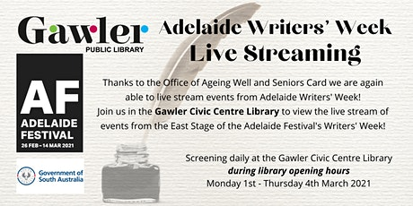 Adelaide Writer's Week 2021 : Live Streaming tickets