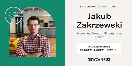 Virtual Mentoring | Power Lunch Hour with Jakub Zakrzewski tickets