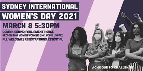 Sydney International Women's Day 2021 tickets