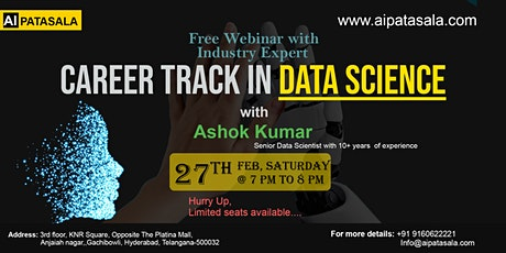 Register for Free Data Science Webinar 'Career Track in Data Science' tickets