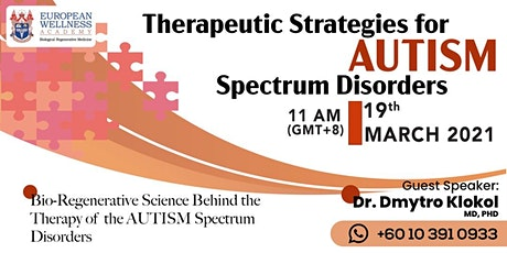 Therapeutic Strategies for Autism Spectrum Disorders tickets