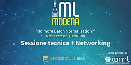 Machine Learning Modena Meetup Marzo 2021 biglietti