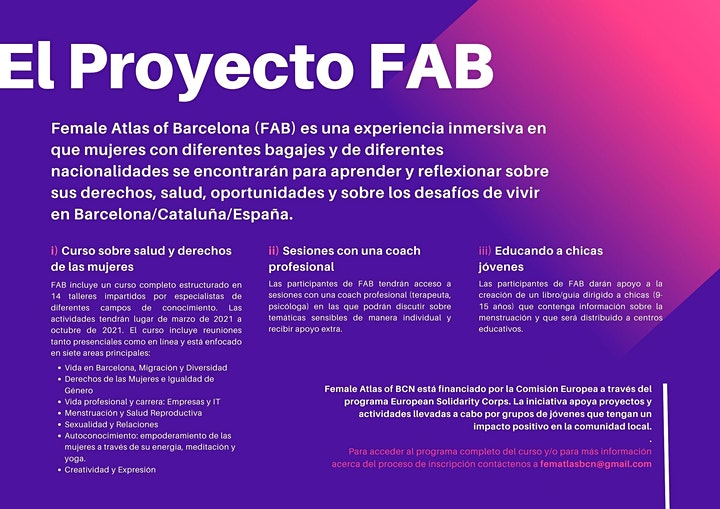Imagen de Female Atlas of Barcelona (FAB)