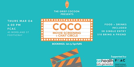 COCO: movie screening + chat circle tickets