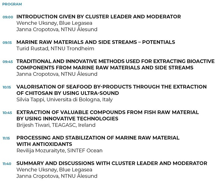 High value utilization of marine raw materials image