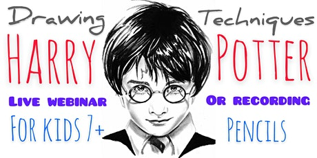 Learn to Draw with Pencils - Harry - Art Webinar for Kids 7+ tickets