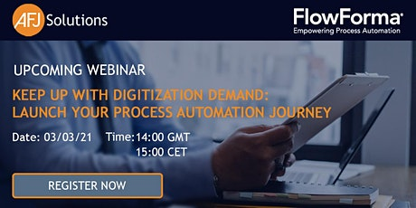 Keep Up With Digitization Demand: Launch Your Process Automation Journey tickets