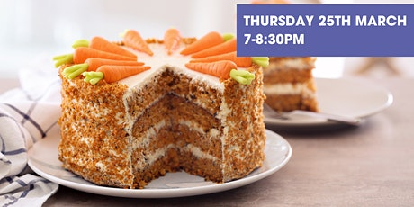 Arts Online Extra! - Carrot Cake with Creamy Frosting and Marzipan Bunny Tickets