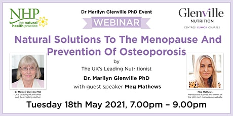 Natural Solutions To The Menopause And Prevention Of Osteoporosis tickets