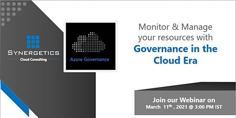 Webinar On Cloud Governance tickets