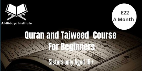 Quran and Tajweed  Course for beginners tickets