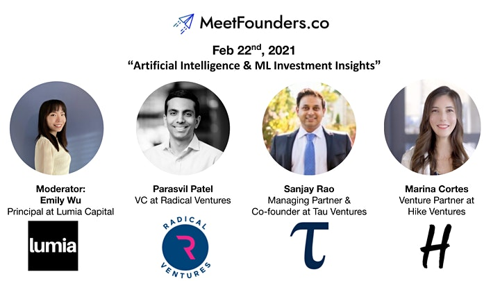 MeetFounders [USA - Feb 2021] VC Investment Panels + Pitches image