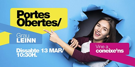 LEINN/ PORTES OBERTES BCN [13 MAR | 10H30] tickets