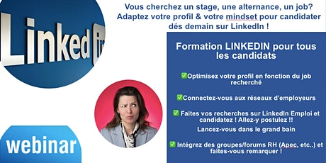 Formation LinkedIn pour trouver son stage/alternance/emploi ! tickets