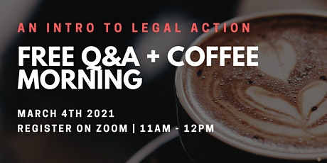 Take Action: free Q&A + coffee morning tickets