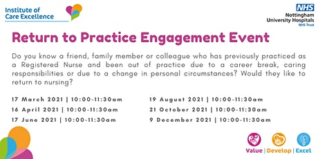 Return to Practice Engagement Event tickets