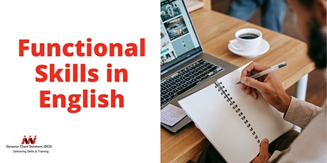 Register your Interest: NCFE Level Entry1-Level1 Functional Skills English tickets
