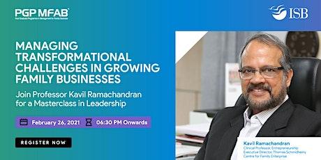 ISB ( PGP MFAB ) Masterclass by Prof. Kavil Ramachandran | 26th February tickets