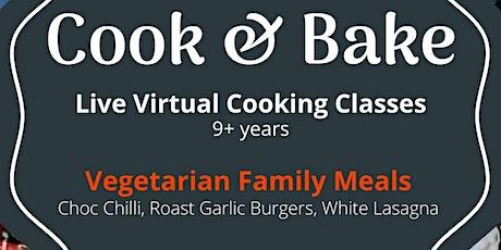 Vegetarian Kids Online Cooking Class -  Chocolate Chilli, Burgers, Lasagna tickets