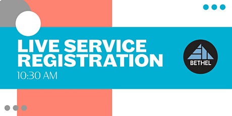 Sunday Morning Service Registration tickets