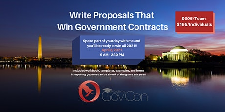 Win Government contracts through writing better proposals tickets